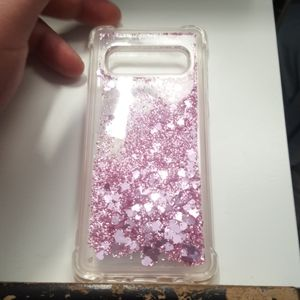 Case waterfall for samsung galaxy s10 pink clear